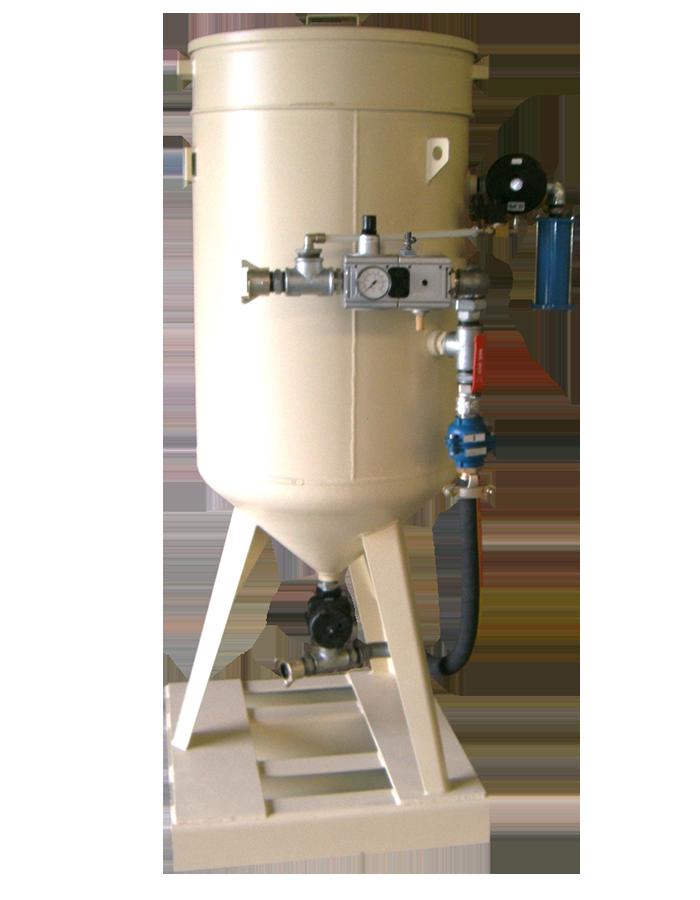Sableuse industrielle 200 litres Commande pneumatique ATEX et régulateur d air