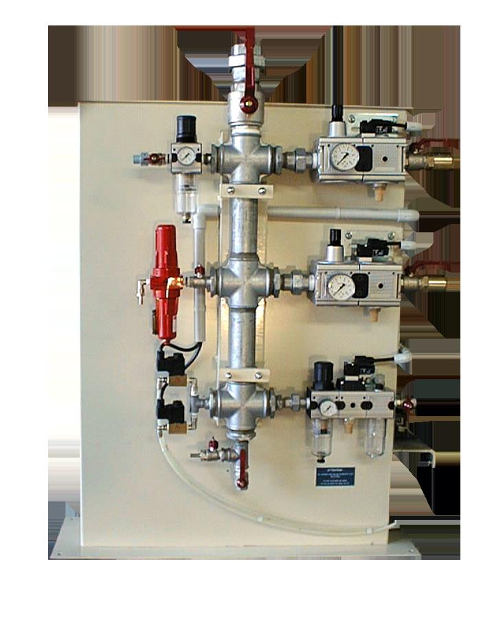 Distributeur pneumatique 6 sorties filtre air bi-cartouche (6822) + soufflette gros débit (5660) + régul.